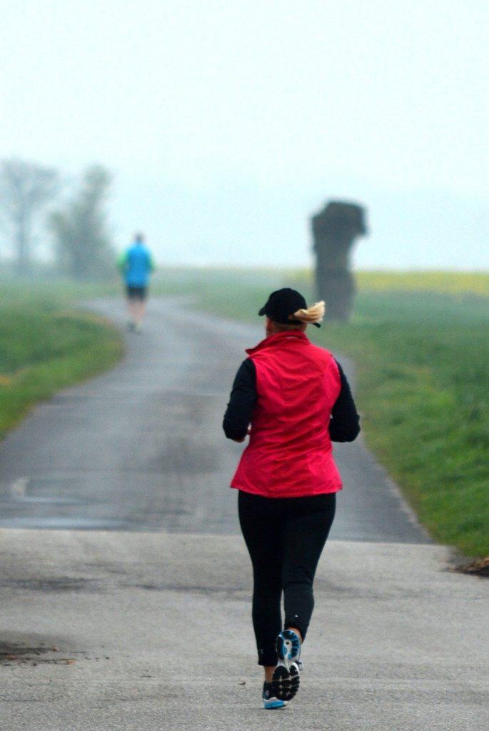 alone, jogging, sport