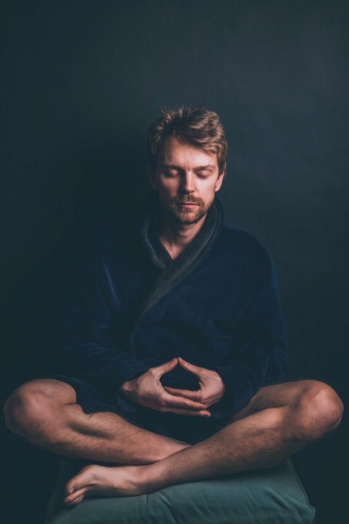 male, meditate, meditation